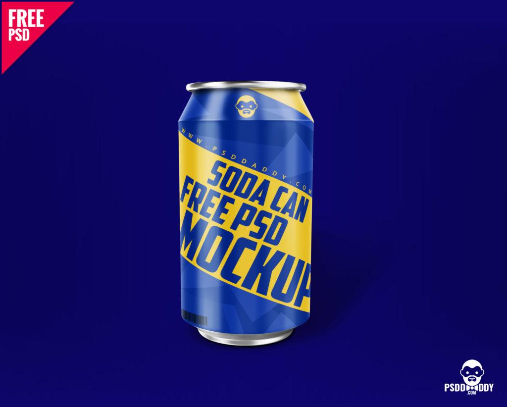 Soda Can -Free PSD Mockup