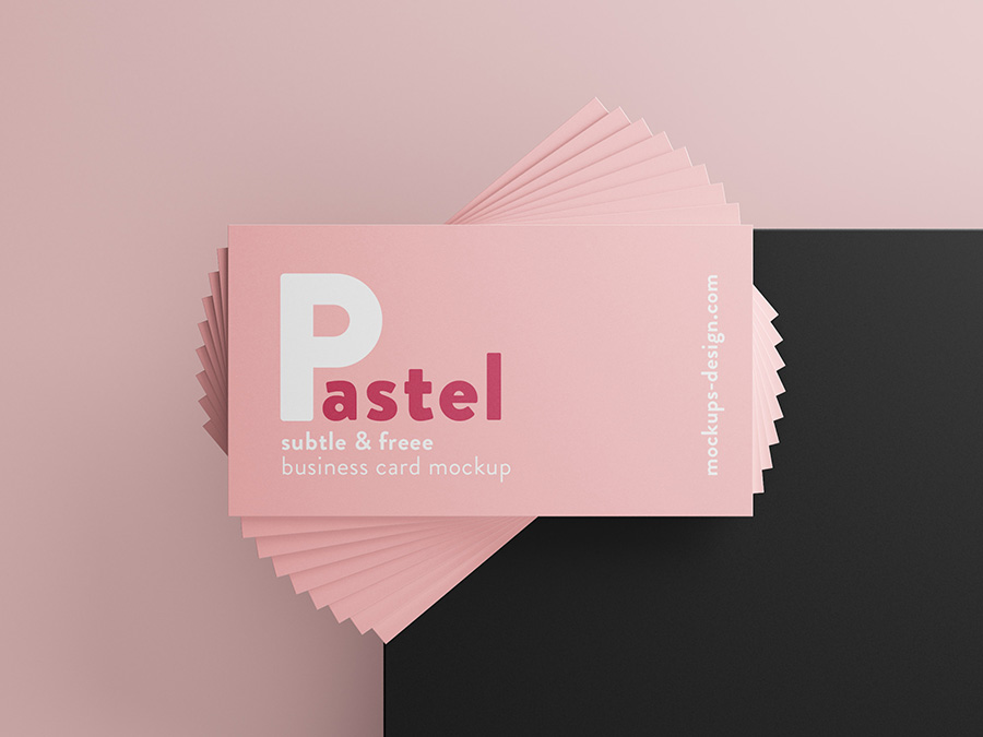Free Simple Business Card Mockup.