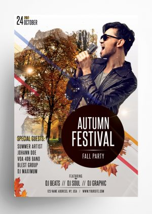 Autumn Falls Festival Flyer