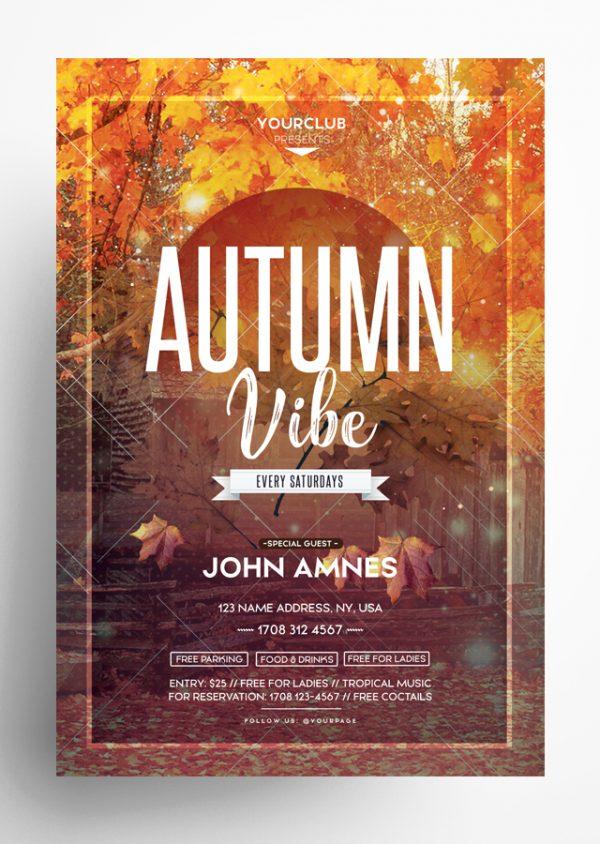 Autumn Vibe PSD Flyer