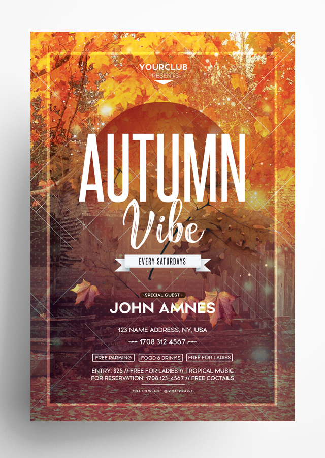 Autumn Vibe PSD Flyer