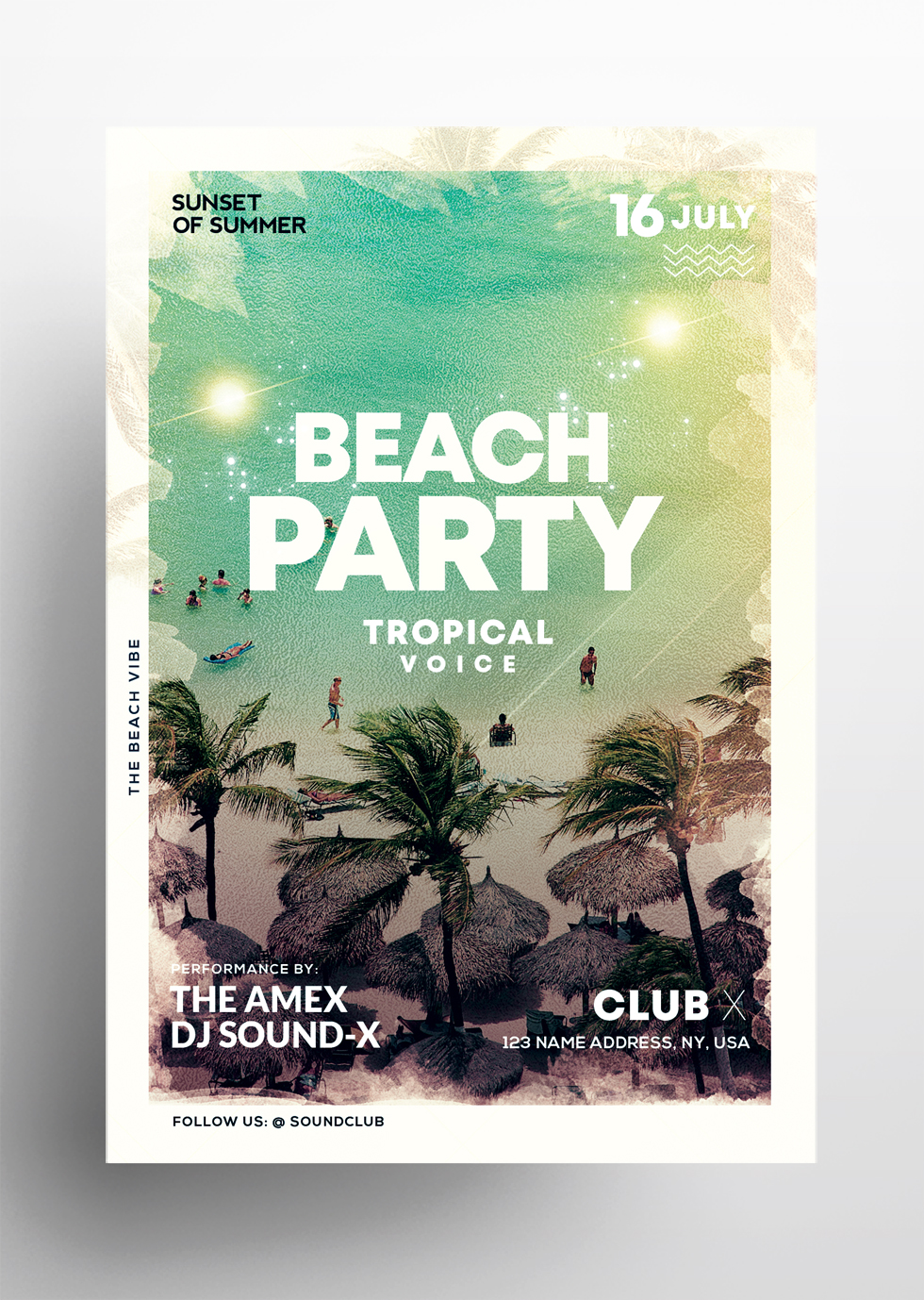 Beach Vibe – Summer Free PSD Flyer Template