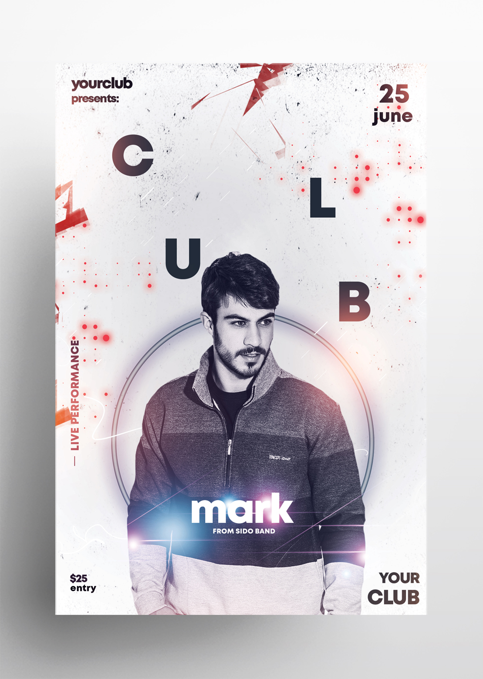 DJ Performance Free PSD Flyer Template