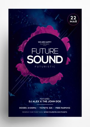 Futuristic Sound PSD Flyer