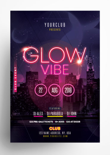 Glow Vibe - Party PSD Flyer