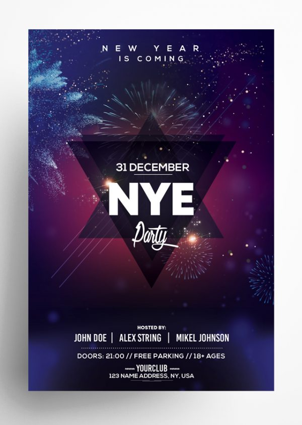 New Year Eve – PSD Flyer Template