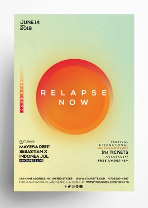 Relapse Now PSD Flyer