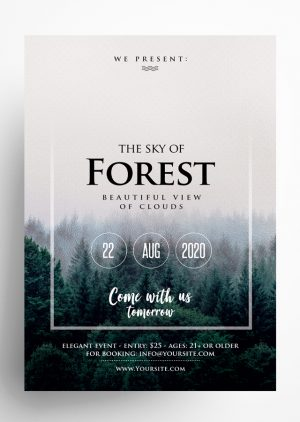 Sky Forest - PSD Flyer Template