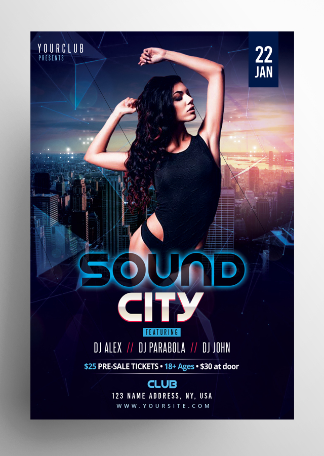 Sound City PSD Flyer