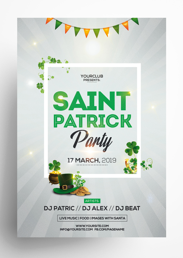 St Patricks PSD Flyer Template