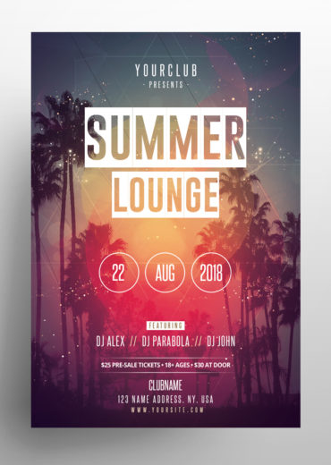 Summer Lounge Flyer