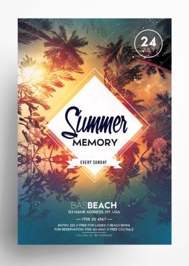 Summer Memory PSD Flyer