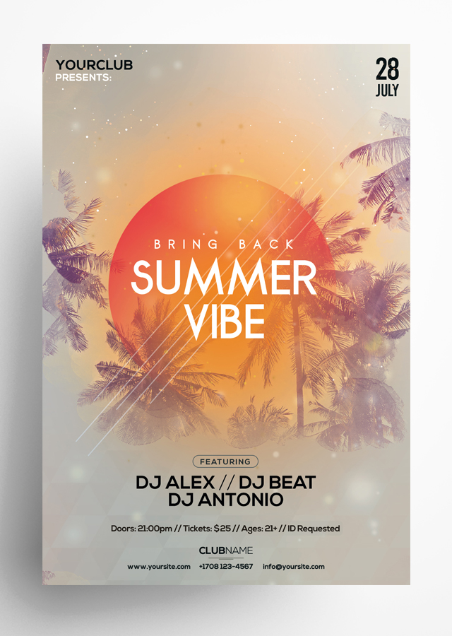 Summer Vibe PSD Flyer