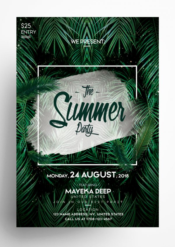 The Summer Party Flyer