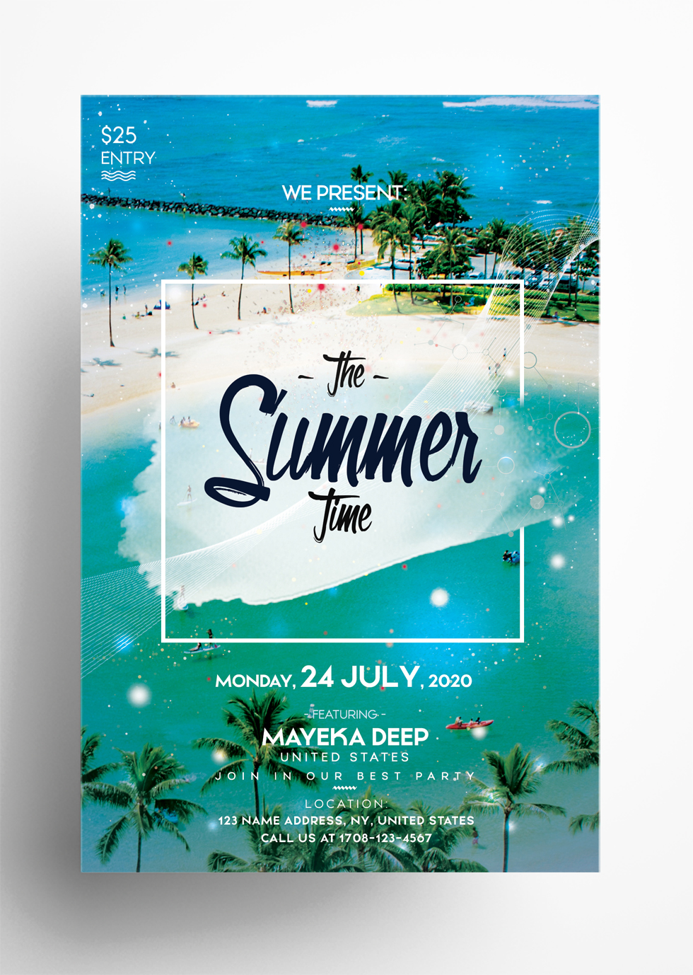 The Summer Time Free PSD Flyer Template