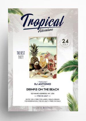 Tropical Adventures Flyer
