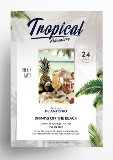 Tropical Adventures Flyer