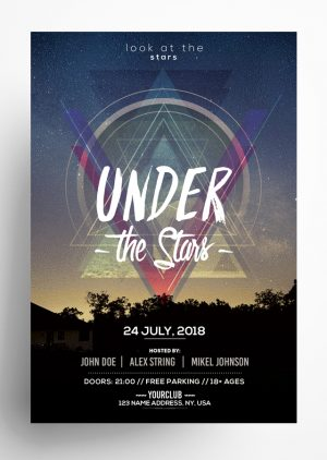 Under The Stars Flyer PSD Template