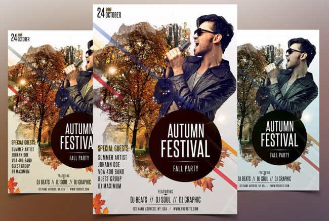 Autumn Falls Festival - PSD Flyer