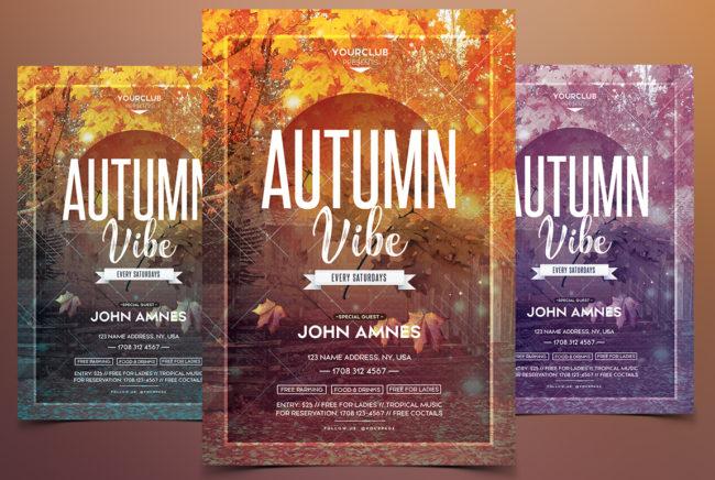 Autumn Vibe - Festival PSD Flyer