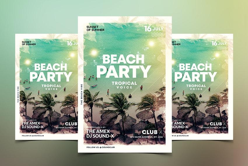 Beach Vibe - Summer Free PSD Flyer Template
