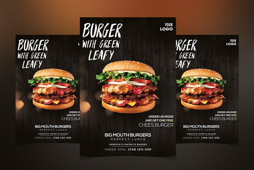 Burger Ad Free PSD Flyer Template