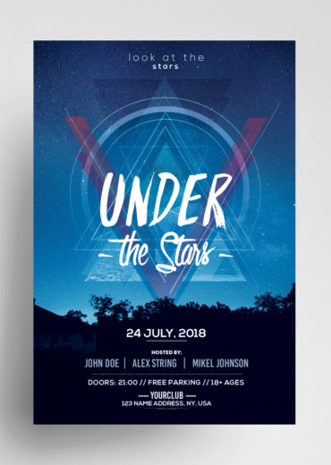 Under the Stars - PSD Flyer Template