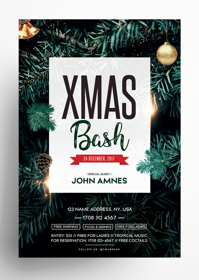 X-Mas Bash Flyer Template