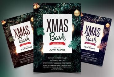 X-Mas Bash 2018 - PSD Flyer Template