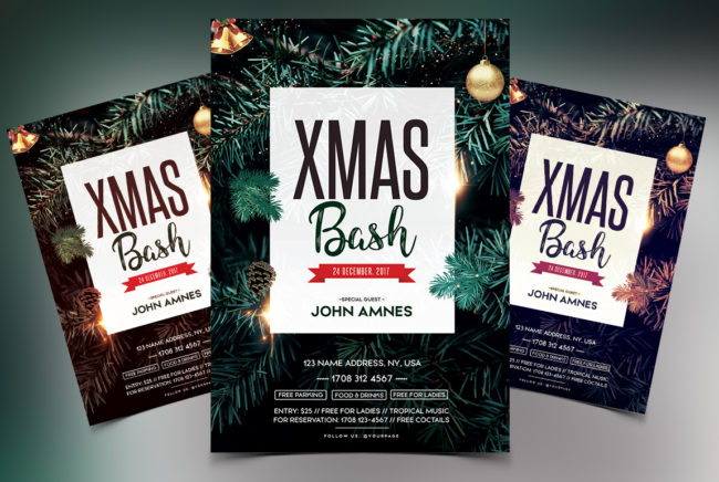 X-Mas Bash 2018 - PSD Flyer Template