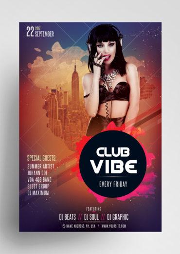 Club Vibe PSD Flyer