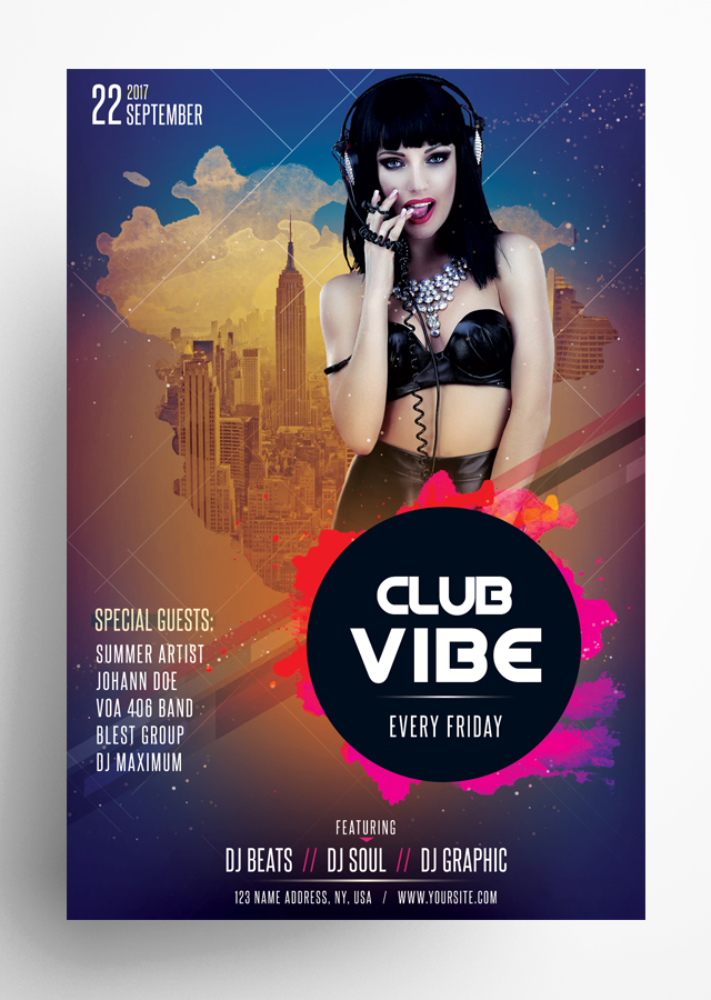 Club Vibe PSD Flyer
