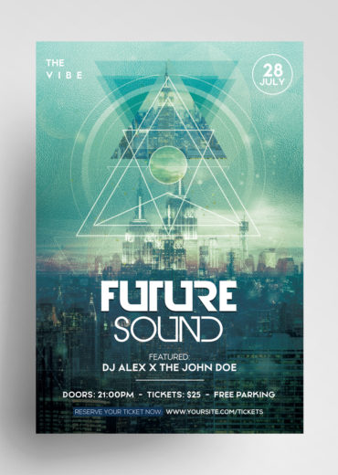Future Sound PSD Flyer Template