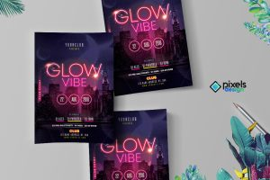 Glow Vibe - Party Flyer