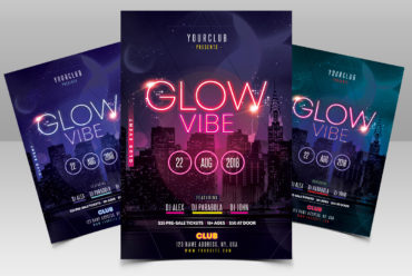 Glow Vibe - Party PSD Flyer Template