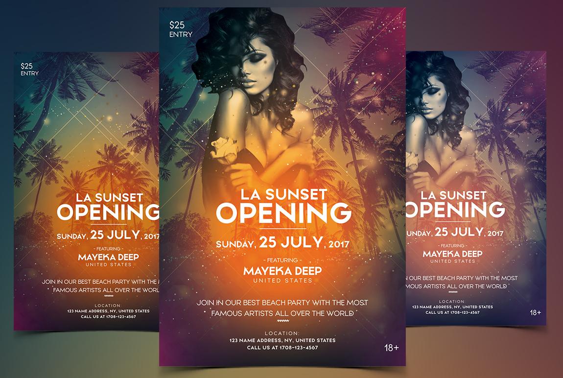 LA Sunset - Summer PSD Flyer
