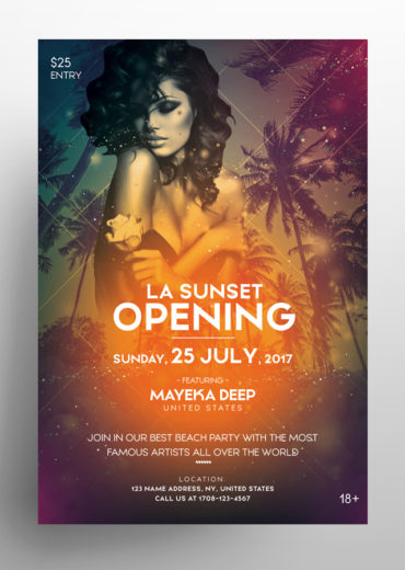 LA Sunset Flyer Template