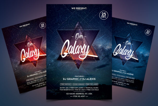 Over Galaxy PSD Flyer Event