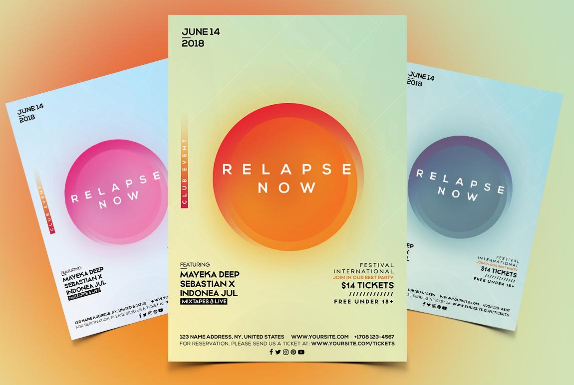 Relapse Now - Alternative PSD Flyer