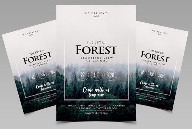 Sky Forest - PSD Flyer Template