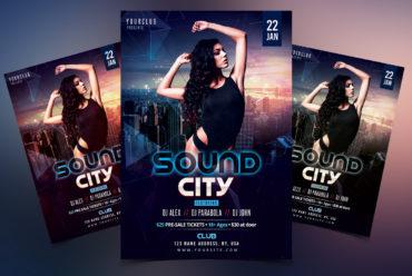 Sound City - PSD Flyer Template