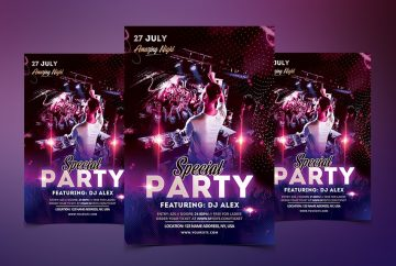 Special Party PSD Free Flyer Template