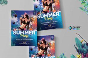 Summer Party PSD Flyer