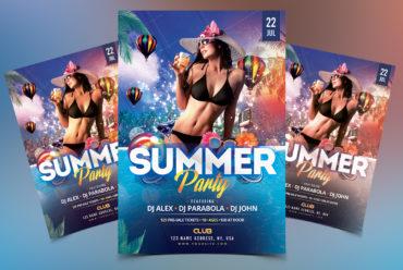 Summer Party - PSD Flyer Template