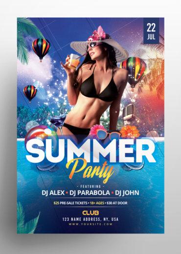 Beach Party PSD Flyer