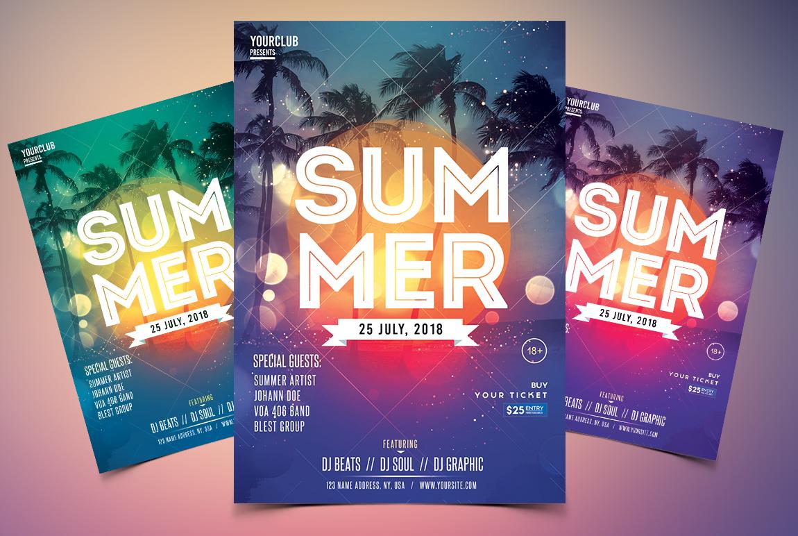 Summer Event - PSD Flyer Template
