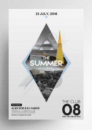 Summer Minimal PSD Flyer