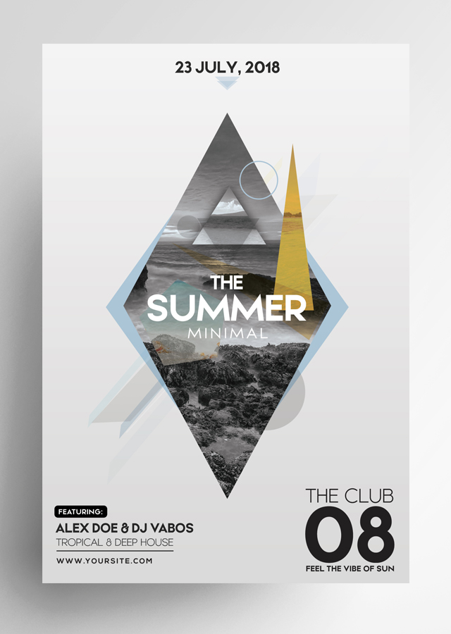 Summer Minimal PSD Flyer