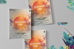 Summer Vibe - PSD Flyer Template