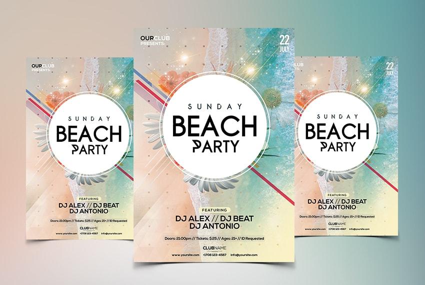 Sunday Beach - Free Summer PSD Flyer Template